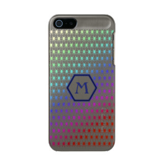 Rainbow spiders blue monogram Personalise-It Incipio Feather® Shine iPhone 5 Case