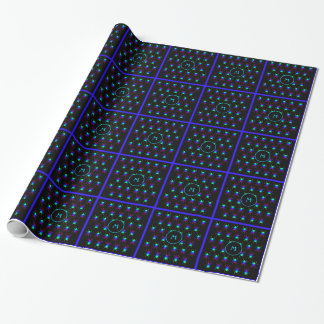 Rainbow spiders monogram on black wrapping paper