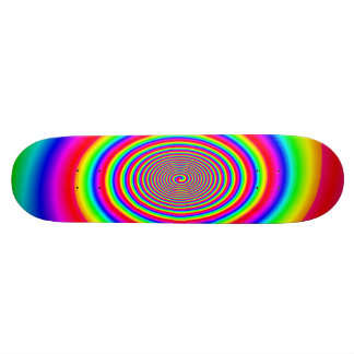 Rainbow spiral abstract design custom skate board
