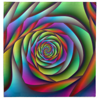 Rainbow Spiral American MoJo Napkins