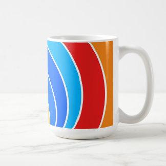 Rainbow Spiral Basic White Mug