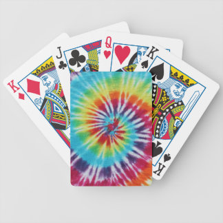 Rainbow Spiral Bicycle Playing Cards