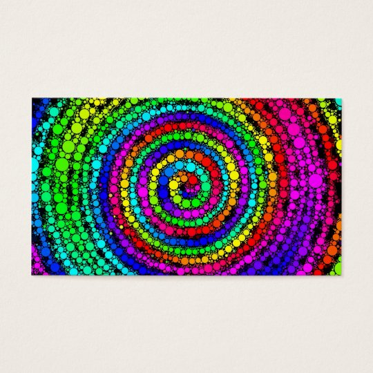 Rainbow Spiral Business Card