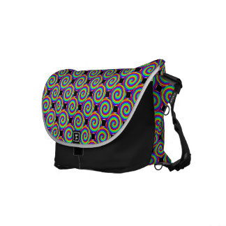 Rainbow Spiral by Kenneth Yoncich Commuter Bags