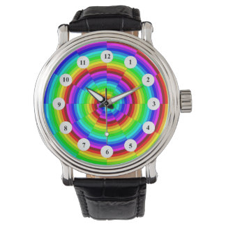Rainbow Spiral (Classic Face) by Kenneth Yoncich Watch