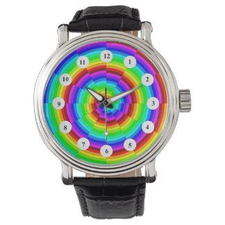 Rainbow Spiral (Classic Face) Watch