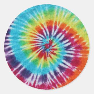 Rainbow Spiral Classic Round Sticker