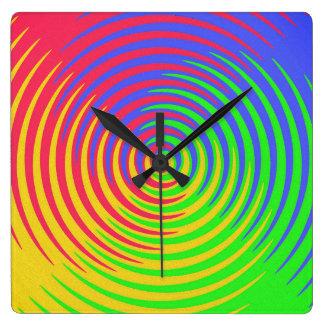 Rainbow Spiral Clock