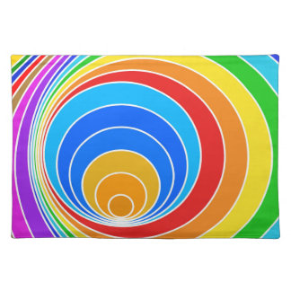 Rainbow Spiral Cloth Place Mat