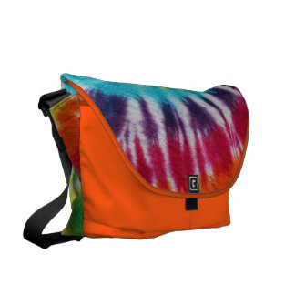 Rainbow Spiral Courier Bag