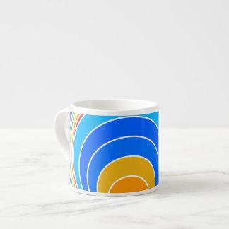 Rainbow Spiral Espresso Cup
