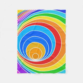 Rainbow Spiral Fleece Blanket