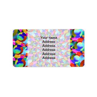 Rainbow Spiral Fractal Art Address Label