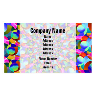 Rainbow Spiral Fractal Art Double-Sided Standard Business Cards (Pack Of 100)
