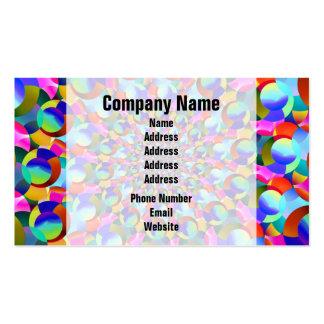 Rainbow Spiral Fractal Art Business Card Templates