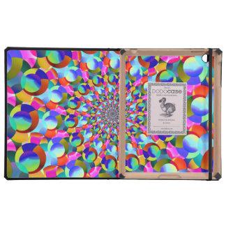 Rainbow Spiral Fractal Art iPad Covers