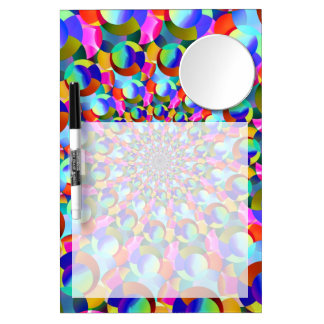 Rainbow Spiral Fractal Art Dry Erase Board With Mirror