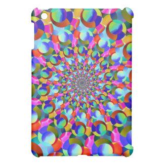 Rainbow Spiral Fractal Art iPad Mini Cover