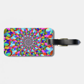 Rainbow Spiral Fractal Art Luggage Tag