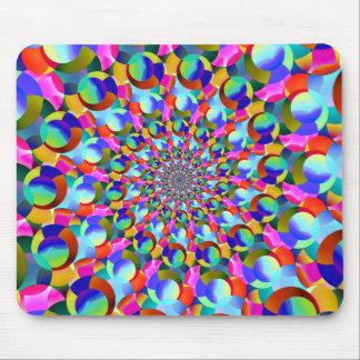 Rainbow Spiral Fractal Art Mouse Pads