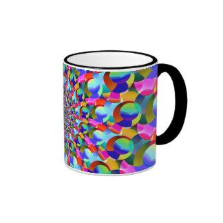 Rainbow Spiral Fractal Art Coffee Mugs