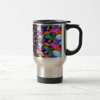 Rainbow Spiral Fractal Art Mugs