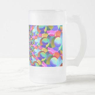 Rainbow Spiral Fractal Art Frosted Beer Mug