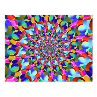 Rainbow Spiral Fractal Art Postcard
