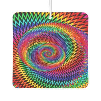 Rainbow Spiral Fractal Car Air Freshener