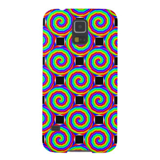 Rainbow Spiral Galaxy S5 Cases