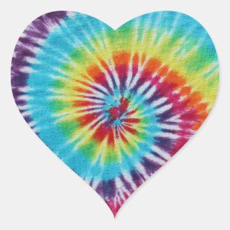 Rainbow Spiral Heart Sticker