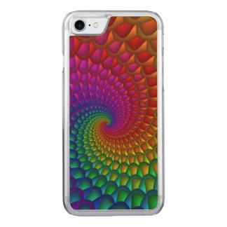 Rainbow Spiral iPhone 6 Slim Wood Carved iPhone 8/7 Case