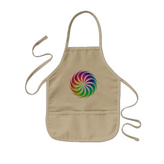 Rainbow spiral kids apron