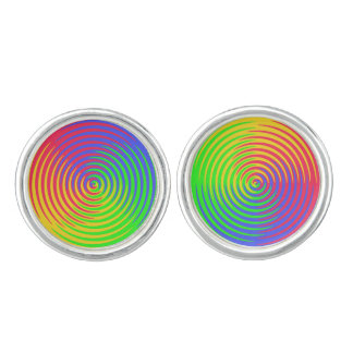 Rainbow Spiral LGBT Cufflinks