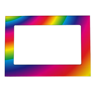 Rainbow Spiral Magnetic Photo Frames