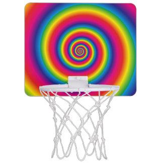 Rainbow Spiral Mini Basketball Hoop