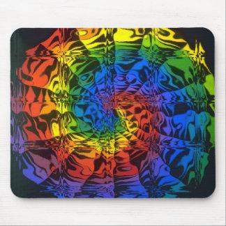 rainbow spiral mouse mat