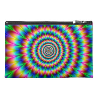 Rainbow Spiral Optical Illusion Travel Accessory Bags