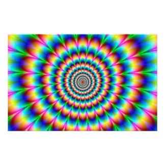 Rainbow Spiral Optical Illusion Flyer Design