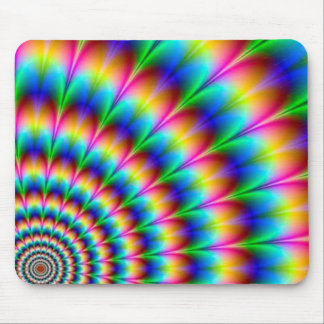 Rainbow Spiral Optical Illusion Mouse Mat