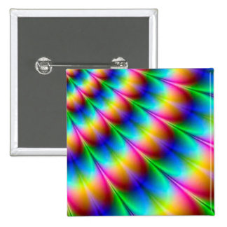 Rainbow Spiral Optical Illusion Pinback Buttons