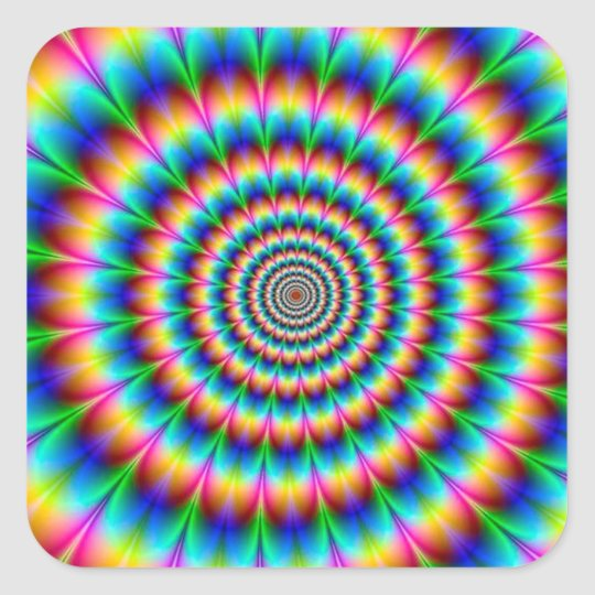 Optical Illusions Square Rainbow Spiral ...