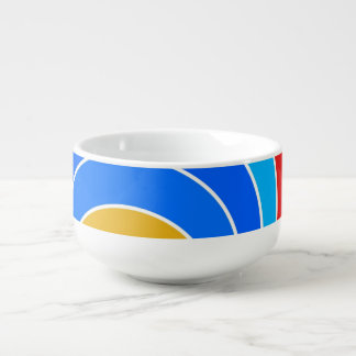 Rainbow Spiral Soup Bowl With Handle