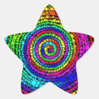Rainbow Spiral Star Sticker
