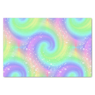 Rainbow Spiral Wave Spattered Tissue Paper