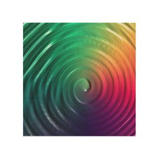 Rainbow Spiral Wood Print