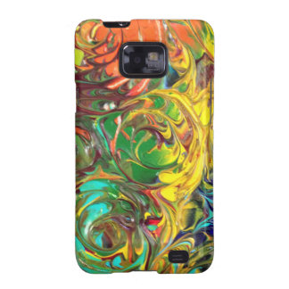 Rainbow Spirals Abstract Painting Samsung Galaxy S2 Cases