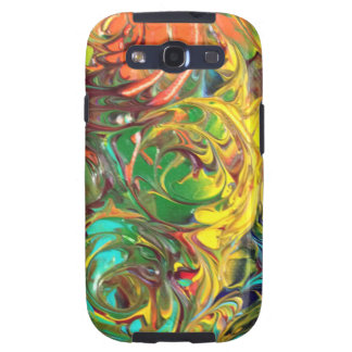 Rainbow Spirals Abstract Painting Samsung Galaxy S3 Cover