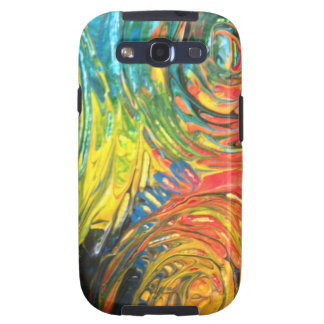Rainbow Spirals Abstract Painting Galaxy S3 Case