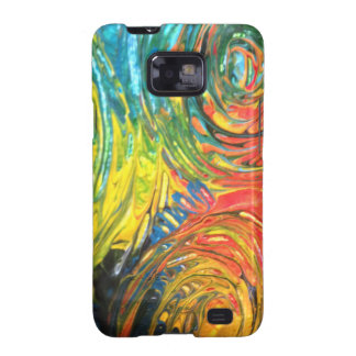 Rainbow Spirals Abstract Painting Galaxy S2 Case